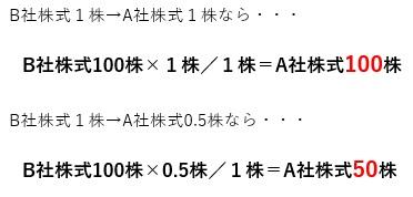 合併比率の適用計算例