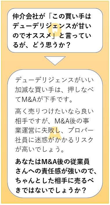 短期M&A顧問でのQ&A3