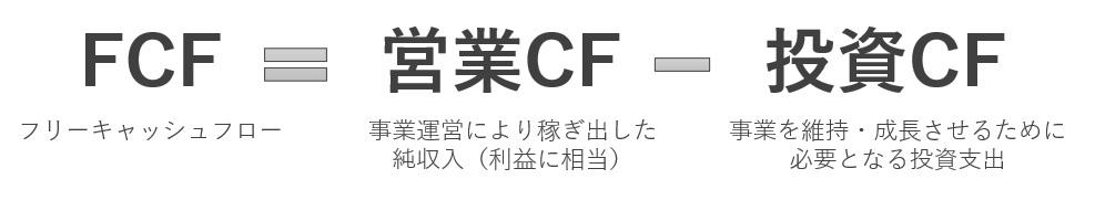 フリーキャッシュフローの計算式
